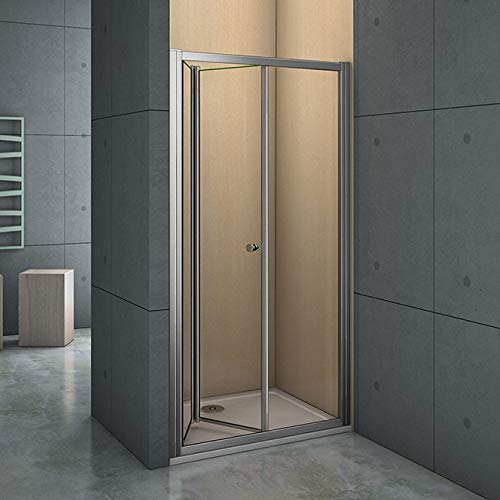 Mamparas Puerta Abatible Pantalla de Ducha 6mm cristal para 90x185cm