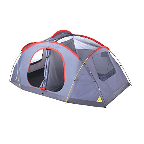 Outbound 8-Person Tent | Dome Tent for Camping with Carry Bag and Rainfly | Perfect for Backpacking or The Beach | Dome Tent, Red