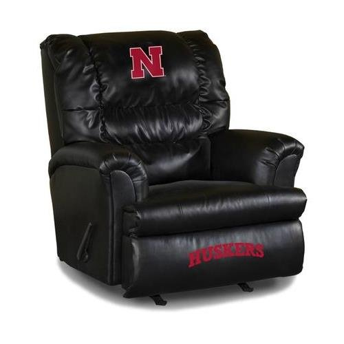 Imperial Officially Licensed NCAA Furniture: Big Daddy Leather Rocker Recliner, Nebraska Cornhuskers