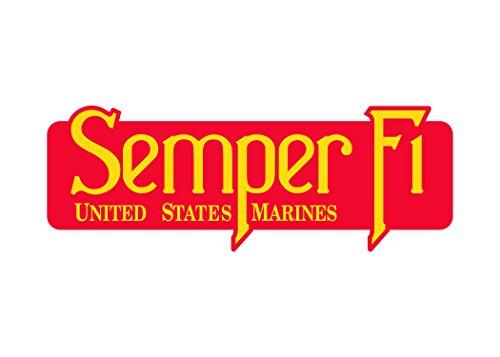 USMC Semper Fi Sticker United States Marine Corps US EGA Military Car Decal Bumper Window (4x2 Inch)