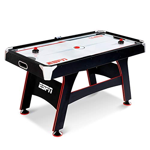 ESPN Air Hockey Game Table: Indoor Sports Gaming Table Set with Equipment Accessories - 2 Paddles, 2 Pucks, and LED Electronic Score Keeper - 5 Feet