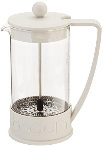 Bodum Brazil French Press Coffee Maker, 1-Liter, 34-Ounce, Off-White, 8-Cup