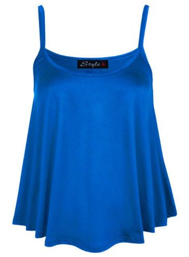 Royal 50 Flare 36 Blue Caraco Femmes Vest bretelles Mini Tunique Crop swing qUv4nvxp