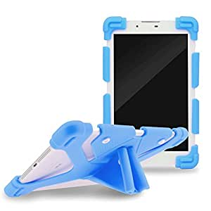 "Sinbadteck Universal 8.9-12"" Shockproof Silicone Cover Case Stand for iPad Air,iPad Mini,Kindle,Q8,Samsung Galaxy Tab,Verizon Asus RCA Google Dragon Touch &Other 8.9-12inch Tablets (8.9-12"", Blue)"
