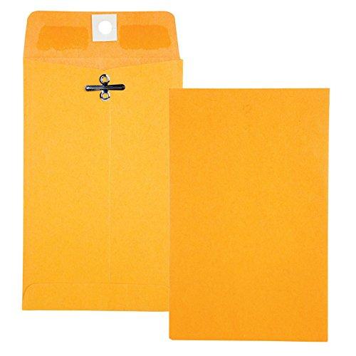 Quality Park Clasp Envelope, 4 x 6 3/8, 28lb, Brown Kraft, 100/Box (37815)