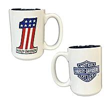 Harley Davidson #1 Stars & Stripes Ceramic Coffee Mug