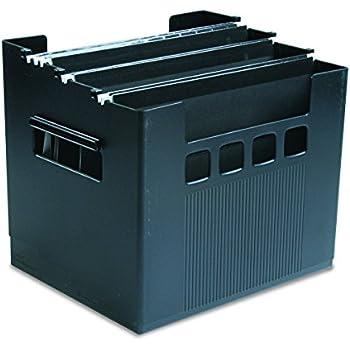 Pendaflex 43013 Desktop File w/Hanging Folders, Letter, Plastic, 12 3/4 x 10 x 11, Black