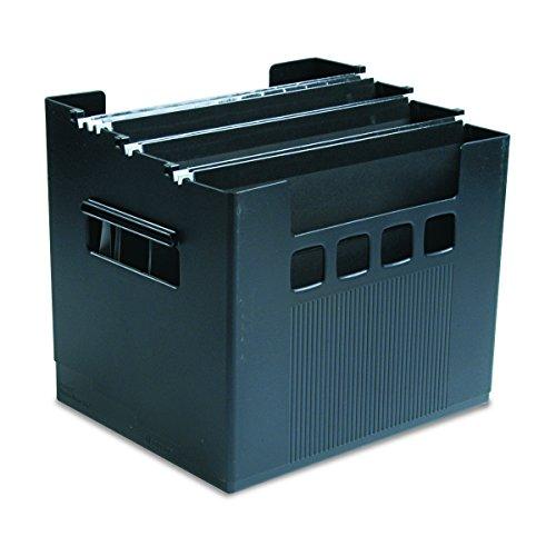 Pendaflex 43013 Desktop File w/Hanging Folders, Letter, Plastic, 12 3/4 x 10 x 11, (Black Plastic Desktop)