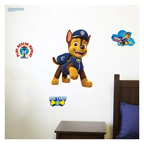 Nickelodeon Paw Patrol Wall Decal Chase Wall Stickers For Kids With 3d Augmented Reality Interaction Kids Wall Decals Paw Patrol Stickers Measures 17 Wide 24 Tall Proudly