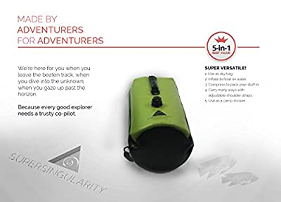 The Most Versatile Dry Bag? Yes! 5-in-1 Waterproof Backpack 30L with Compression - the Ultimate Sack for Camping, Travelling, Canoeing, Kayaking and Gifts for Adventurers