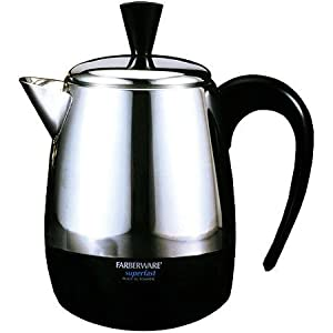 Farberware 4-Cup stainless steel Percolator, Automatically switches, Detachable cord