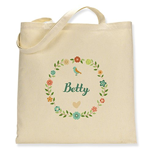 Betty Single Tote Bag Canvas Floral Sided Pwqpnapx