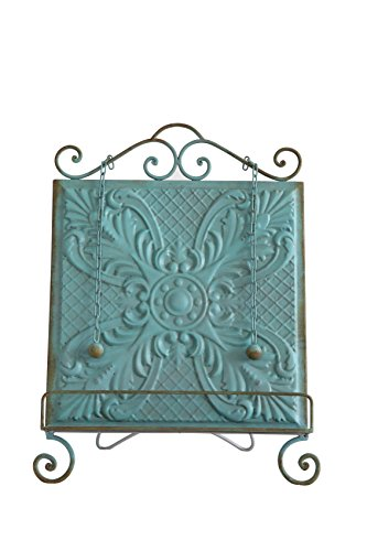 Creative Co op Aqua Embossed Holder