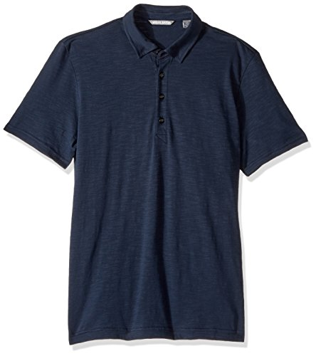 Michael Bastian Men's Short Sleeve Cotton Slub Polo Shirt, Navy, L from Michael Bastian