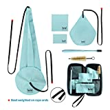 Imelod Saxophone Cleaning kit with Case for Alto Tenor Clarinet Flute and other Wind & Woodwind Struments Including Sax Cleaning Cloth(4pcs),Mouthpiece Brush(Light Blue)