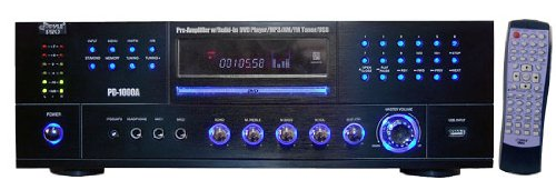 Pyle Home Theater Preamplifier Receiver, Audio/Video System, CD/DVD Player, AM/FM Radio, MP3/USB Reader, 1000 Watt