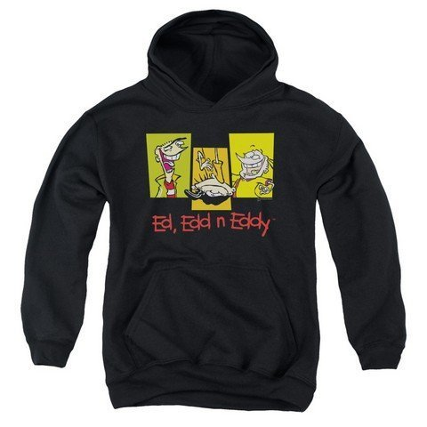 Trevco Ed EDD Eddy-3 EDS - Youth Pull-Over Hoodie - Black44; Small