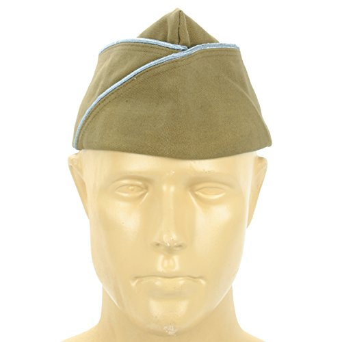 U.S. WWII Garrison Cap PX with Infantry/Paratrooper Blue Piping-7.25 (58 cm) ()