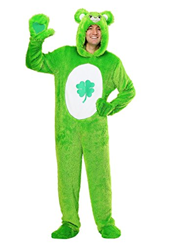 Care Bears Costumes For Adults (Care Bears Adult Classic Good Luck Bear Costume Medium)