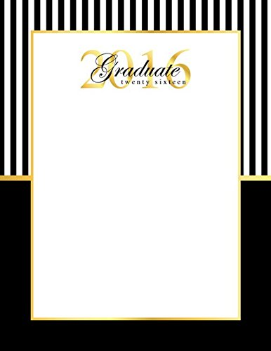 Geographics Graduation Holographic Letterhead, 8.5 x 11 Inches, Gold Foil, 25-Sheets Pack (48681) - Geographics Foil