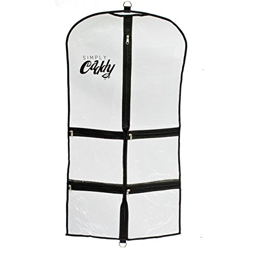 Simply Caddy Costume Garment Bag with Pockets, Black Trim by Simply Caddy