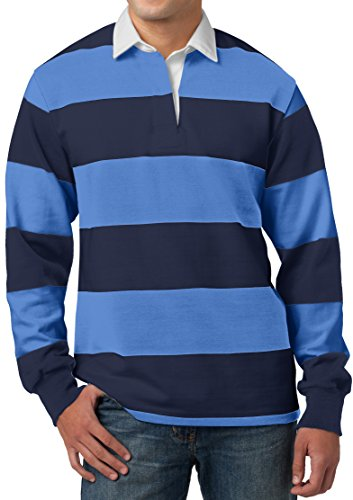 Buy Cool Shirts Mens Long Sleeve Rugby Polo Shirt