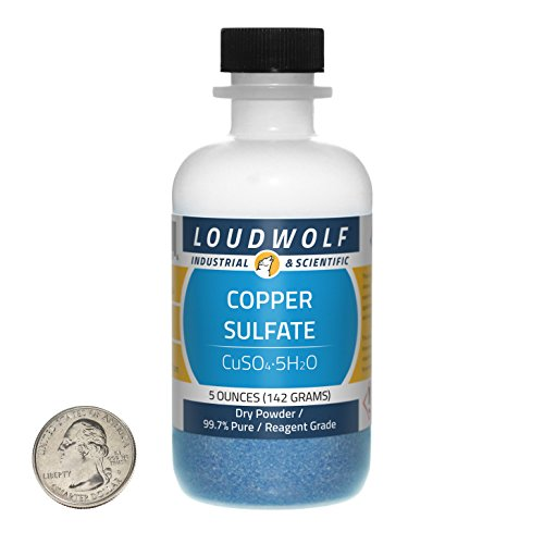 5 Ounce Aquarium Bottle (Copper Sulfate / Dry Powder / 5 Ounces / 99.7% Feedstock Grade / SHIPS FAST FROM USA)