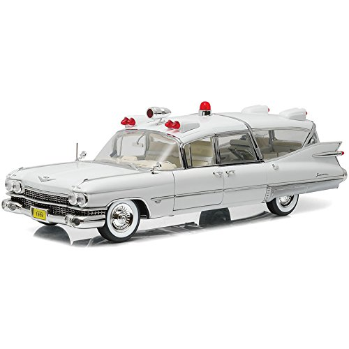 1959 Ambulance Cadillac (GREENLIGHT LLC Precision Collection Vintage 1959 Cadillac Ambulance 1:18 Scale Die Cast)