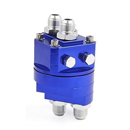 eDealMax aceite de Metal Azul filtro de bloque de adaptadores enfriador de placas Para el carro