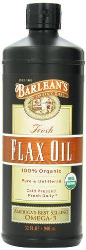 Huiles biologiques de Barlean frais huile de lin, 32-bouteille d'once