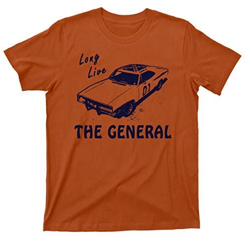(General Lee T Shirt 1969 Dodge Charger Dukes of Hazzard Tee (2XL, Texas Orange))