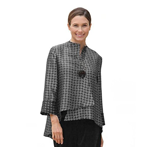 IC Collection Designer Jacket in Steel Gray and Black- 5281J-STGY (XL)