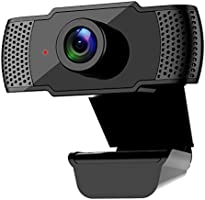 Webcam with Microphone, Kasily 1080P Computer Camera, Auto Focus USB Plug & Play 3D Noise Reduction, Streaming Web...