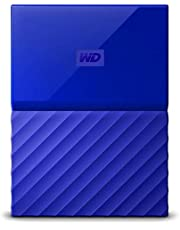 WD My Passport 2 TB Portable Hard Drive for PC, Xbox One and PlayStation 4 - Blue