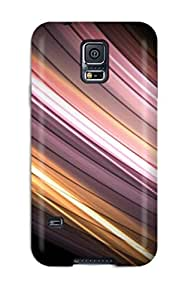 DeirdreAmaya Galaxy S5 Well-designed Hard Case Cover Colorful Curved Lines Protector
