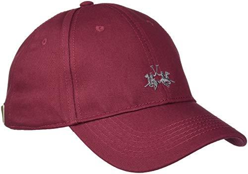 La Martina Cap Baseball Twill, Gorra de béisbol para Hombre Rojo (Tibetan Red 06021)