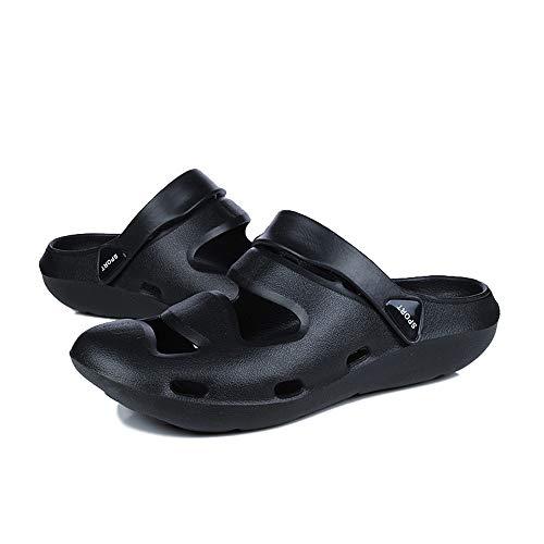 Plage Respirant Mcys Sandales Piscine Noir Mixte De Jardin Amants Adulte Hommes Chaussons D'été Chaussures Sabots Pantoufles Prvxgn1P