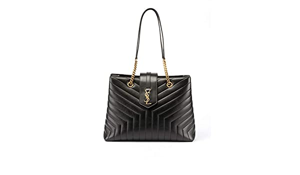 e0402984116 Amazon.com  Saint Laurent Loulou Monogram YSL Large Quilted Shoulder Tote  Bag - Lt. Bronze Hardware Made in Italy  Shoes