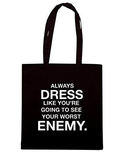 RE Borsa YOU DRESS TO ALWAYS GOING WORST CIT0027 YOUR Nera Shopper SEE LIKE ENEMY Hrq0H6w