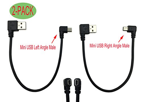 Cerrxian 9Inch Mini USB Cable Combo Mini USB Right Angle & Left Angle Male to USB Type A 2.0 Right Angle Male Data Sync and Charge Cable (2-Pack) Review