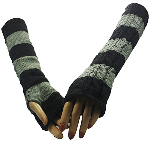Grey Double Shade of Dream Arm Warmer Gloves