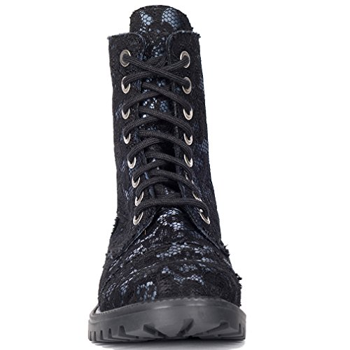 Para Sintético Mujer Aderlass De Size Material One Negro Botas qxwwHSC6I