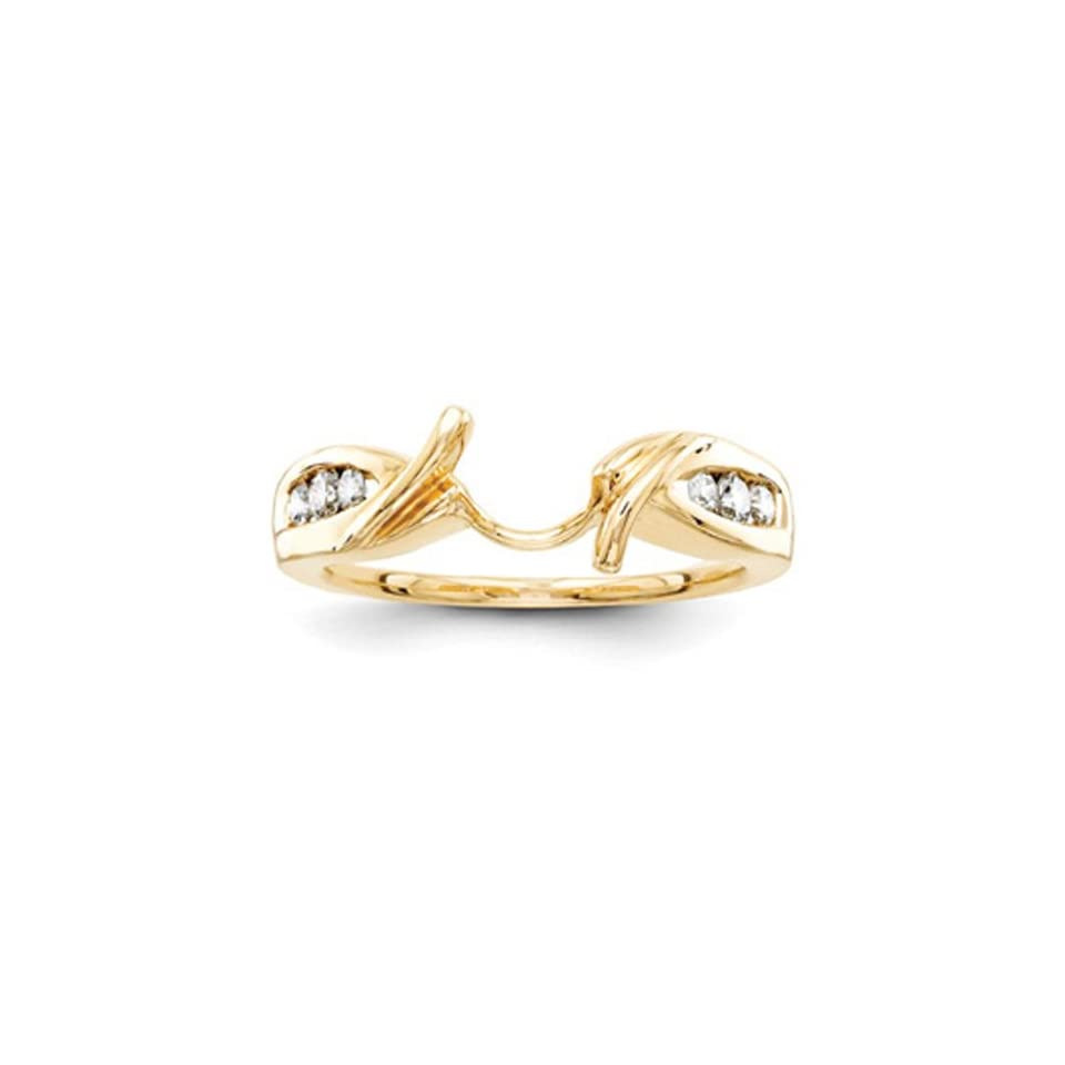 14k Yellow Gold Diamond Ring Wrap (Color H I, Clarity SI2 I1)
