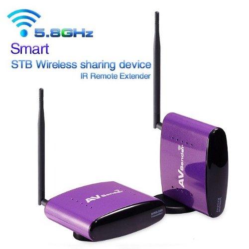 Goliton® Smart 5.8G STB wireless sharing device AV Sender and IR Remote Extender 300M transmission - Purple