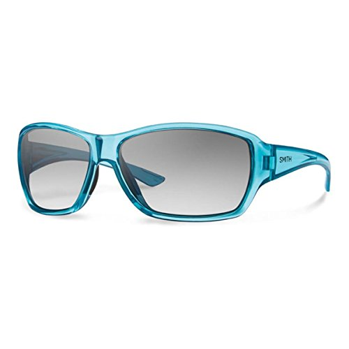 Smith Oversized Sunglasses - Smith Optics Women's Purist Sunglasses, Crystal Opal Frame, Gray Gradient Carbonic TLT Lenses