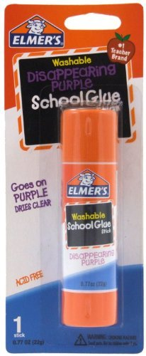 Elmer's Disappearing Purple School Glue Stick, 0.77 oz, Single Stick (E523) Size: 1-Pack (0.77 oz. Stick) Model: E523 Office Supply Store