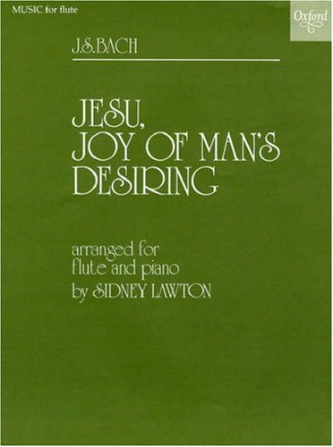 Flute Recorder Music - Jesu, Joy of Man's Desiring: Arranged for Flute and Piano