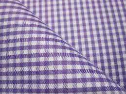 RD154 Purple Gingham POLYCOTTON Fabric Per Metre// Half Metre
