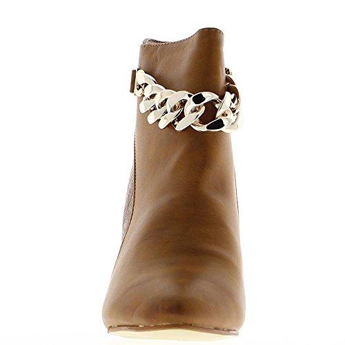 Stiefel-Kamel Frauen an Ferse 9cm Kette Bi-Material
