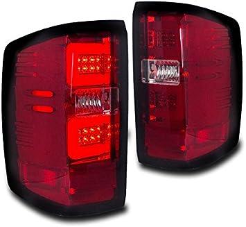 RED LED BAR TAIL LIGHT//BRAKE LAMP FOR 2014-2017 CHEVY SILVERADO//GMC SIERRA CLEAR